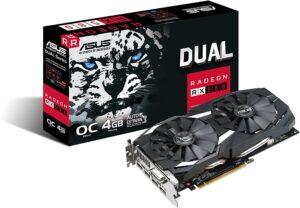 5. ASUS Radeon RX 580 O4G Dual-Fan OC Edition GDDR5