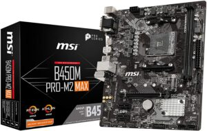 9. MSI B450M PRO-M2 Max ( Commercial Motherboard )