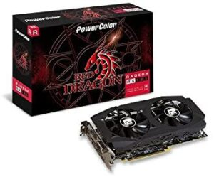 3. Power Color AMD Radeon RED DRAGON RX 580 8GB GDDR5